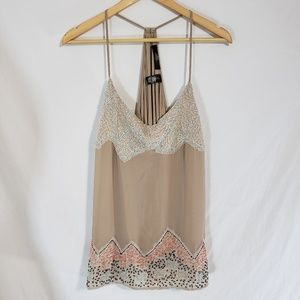 BKE Boutique Beaded Halter Tank NWT